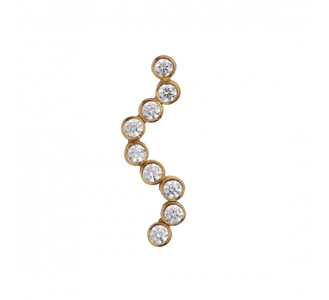STINE A MIDNIGHT SPARKLE EARRING GOLD - LEFT