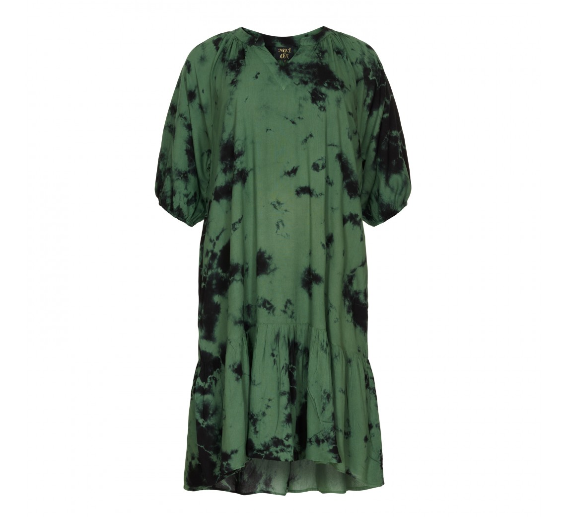 NO. 1 BY OX LONG FLAIR KJOLE OLIVE GREEN