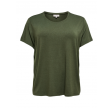 ONLY CARMAKOMA NOOS T-SHIRT ARMY