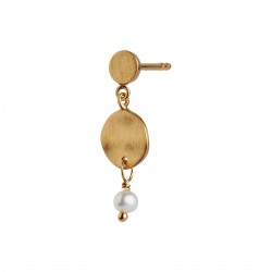 STINE A PETIT HAMMERED COIN AND STONE ØRERING GOLD - PEARL
