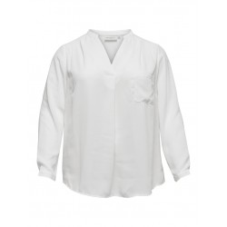 ONLY Carmakoma Bluse - Lavender Life Blouse, Off-White