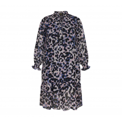 NO. 1 BY OX FLAIRE KJOLE WITH LONG SLEEVES DARK BLUE